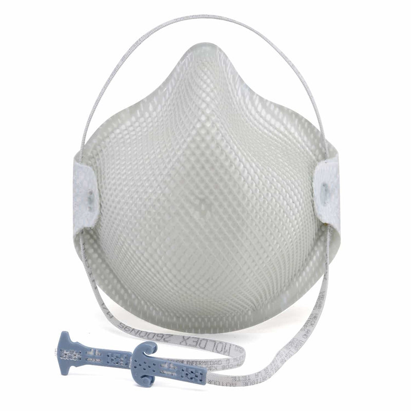 Moldex 2600 N95 Rated Disposable Respirator w/Valve and Handy Strap (Dust Mask), 15 per box