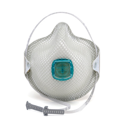 N100 Rated Disposable Particulate Respirator w/Ventex Valve and Handy Strap (sold by the each)