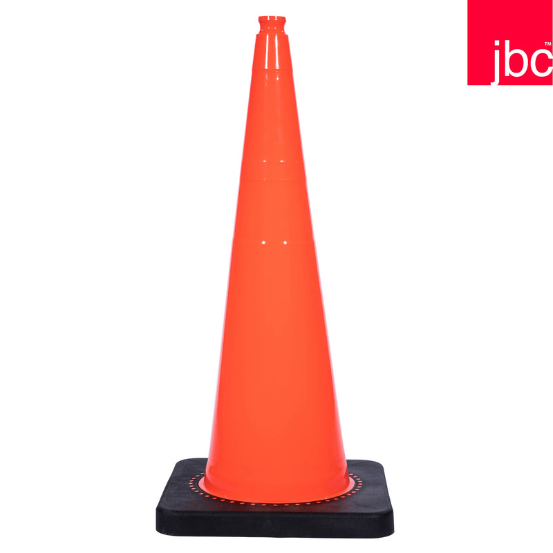 Wide Base Orange Traffic Cone with Black Base