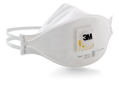 3M Aura N95 Disposable Respirator with Valve, 10 per box