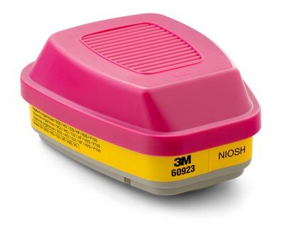 3M OV/Acid Gas/P100 Combination Cartridge, 2 per pack (yellow/pink stripe) for 6000 series respirators