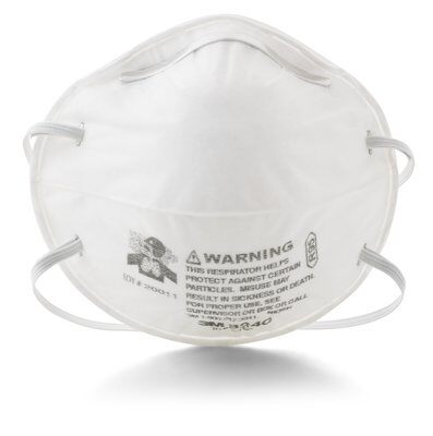 3M Model 8240 R95 Rated Disposable Particulate Respirator (Dust Mask), 20 per box