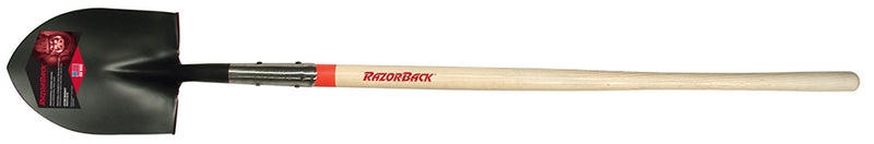 "Razorback Round Point Shovel with 48"" Hardwood Handle"