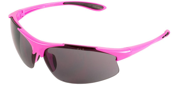 Ella Pink Frame Smoke Lens Safety Glasses, box of 12