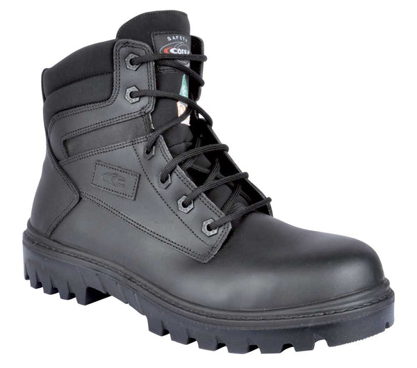 Chicago Black Wide Safety Shoe with Composite Toe, Protection Plate and Off-Road Sole