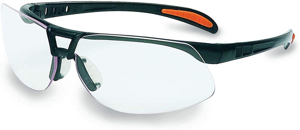 Clear Lens Protege Ultralightweight Floating Lens, UVExtreme Anti-Fog Coated, Safety Glasses with Sandstone Frame