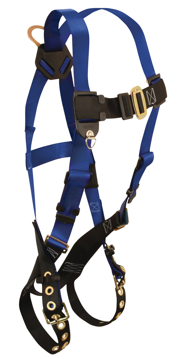 XL/2X Contractor Std Single D-Ring harness with tongue buckle leg straps