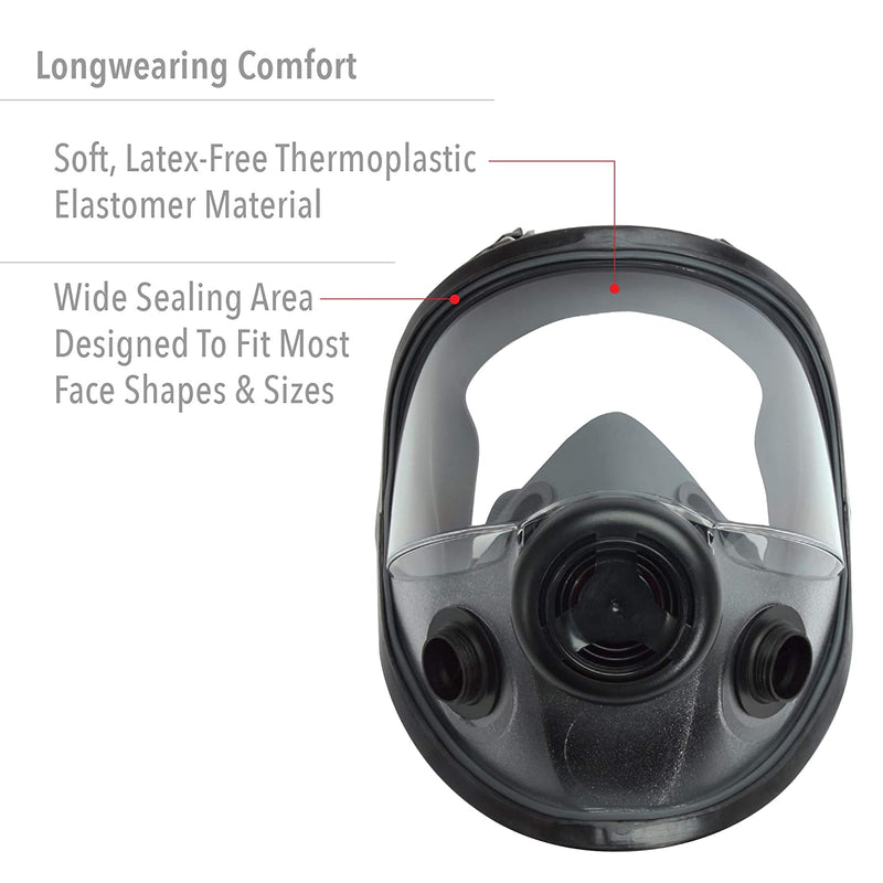 North Economy Low Maintenance Full Face Respirator