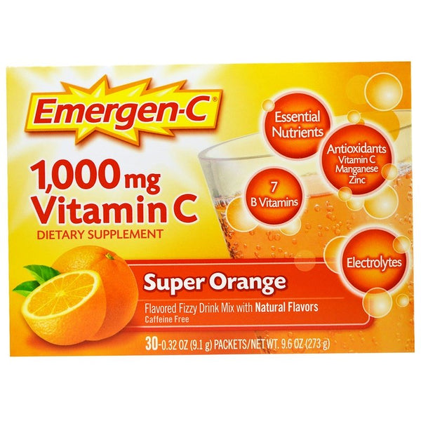Emergen-C 1,000 mg Vitamin C Supplement Drink Mix, 30 pack