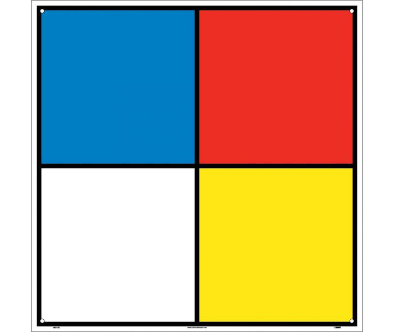 15 x 15 NFPA Color Diamond Vinyl Decal Hazardous Materials Classification