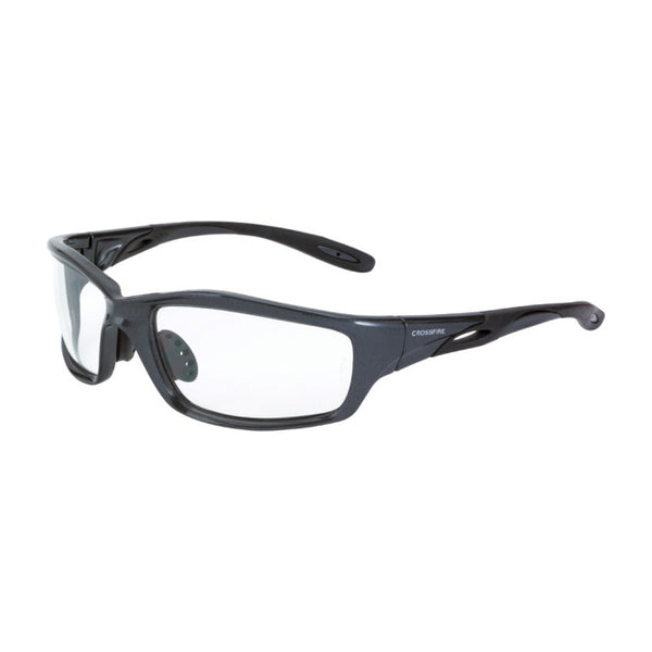 Clear Lens Crossfire Infinity Premium Safety Glass with Black Frame