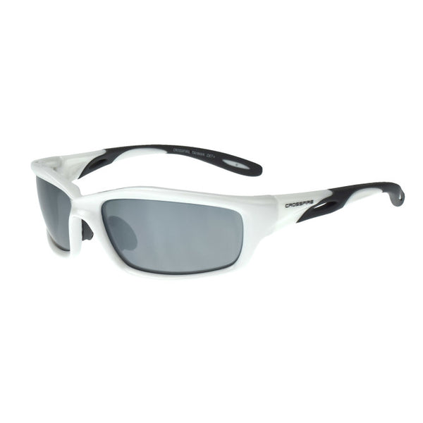 Silver Mirror, White Frame Crossfire Infinity Premium Safety Glass