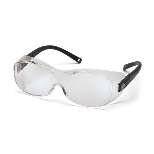 Over the Glass Safety Glasses with Black Temples (OTG)