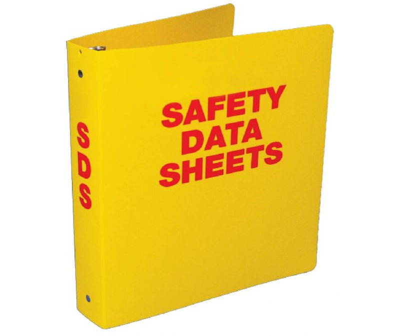 "3"" Wide, Yellow Safety Data Sheet (SDS) Binder"