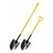 "#2 Round Point Hollow Back Shovel with 48"" Fiberglass Long Handle"