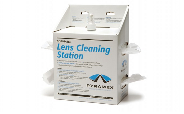 Large Lens Cleaning Station with 16 oz solution and 1,200 tissues