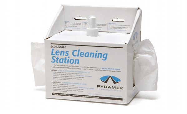 Small Lens Cleaning Station with 8 oz solution and 600 tissues