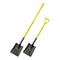 "#2 Square Point Hollow Back Shovel with 48"" Fiberglass Long Handle"