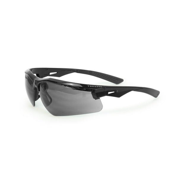 Thraxus™ Black Frame Safety Eyewear with Cyclonic Venting and Floating Nose Loop