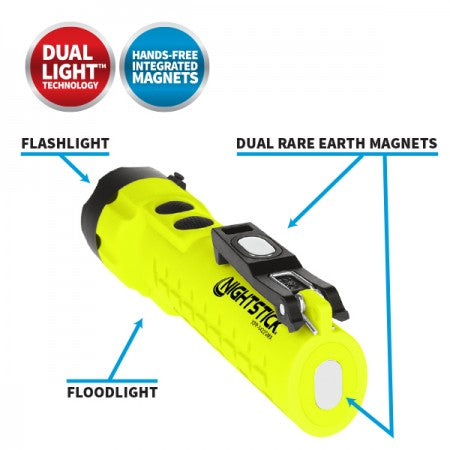 X-Series Intrinsically Safe 285 Lumen Dual-Light™ Flashlight with Dual Magnets - Green