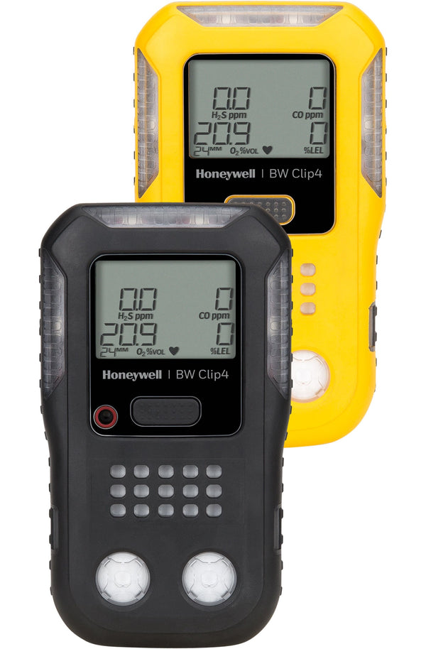 BW Clip4 4-Gas Monitor Diffusion Model (O2, LEL, H2S, CO)