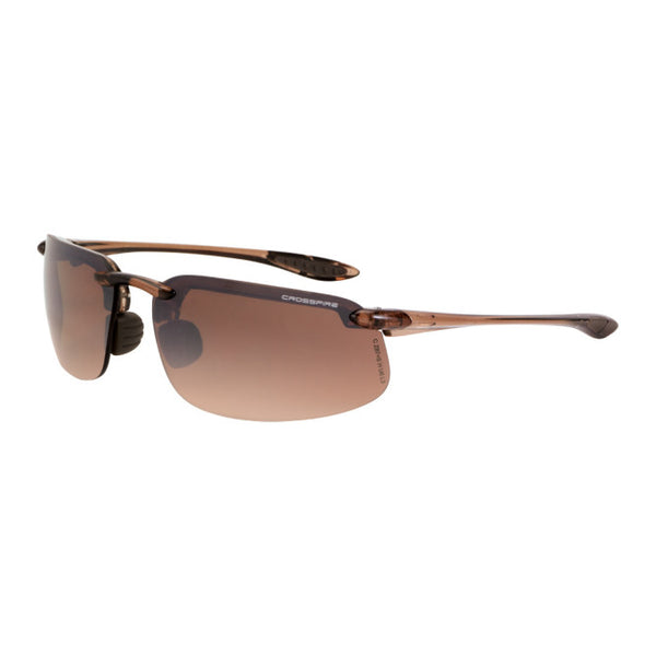Crossfire ES4 Flash Mirror Lens, Crystal Brown Frame-less Safety Glasses