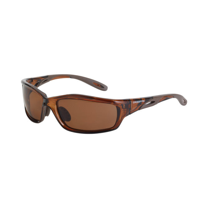 Crossfire Infinity Polarized Brown Lens , Crystal Brown Full Frame Safety Glass