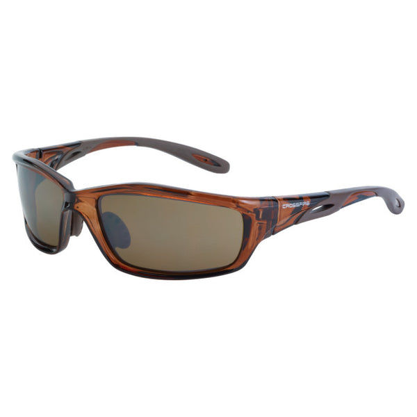 Brown Mirror Crossfire Infinity Premium Safety Glass with Tortoise Shell Frame