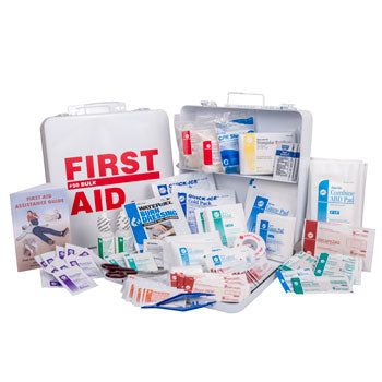 ANSI 2015 Class A Portable First Aid Kit in Weatherproof Steel Case (50 person Large Truck Kit)