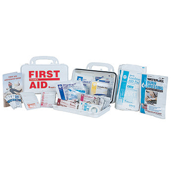 ANSI 2015 Class A Portable First Aid Kit in Weatherproof Plastic Case (10 person Medium Truck Kit)
