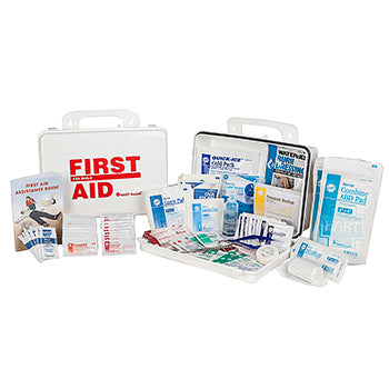 ANSI 2015 Class A Portable First Aid Kit in Weatherproof Plastic Case (25 person Medium Truck Kit)