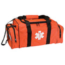"EMT First Responder Bag, Orange Cordura nylon with ""Star of Life"" logo , 20"" x 13"" x 10-1/2"", bag only"