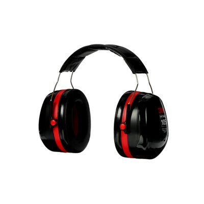 Peltor  Optime Red Headband Ear Muff with wire sides, NRR: 30