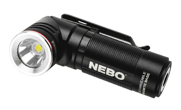 Compact 1,000 Lumen Rechargeable EDC Flashlight with a 90º Rotating Swivel Head