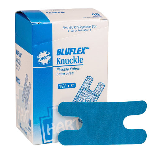 Knuckle Bandage Blue Woven, 40 per box