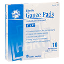 "4"" x 4"" Sterile Gauze Pads Individually Wrapped, Box Qty: 10"