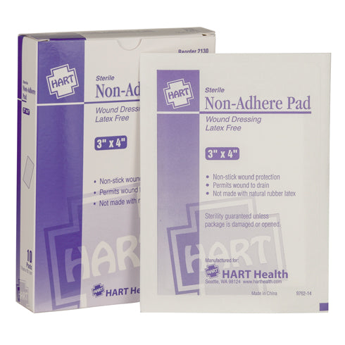 "3"" x 4"" Sterile Latex-Free Non-Adherent Pads, Box of 10"