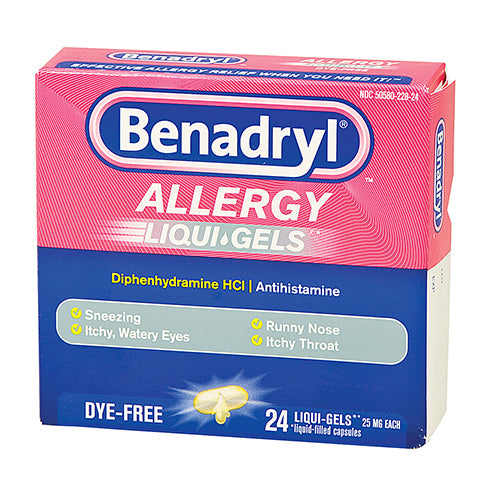 Benadryl Caps 25 Mg