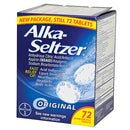 ALKA SELTZER, original formula, effervescent tablets, 72 per box (36 packs of 2)