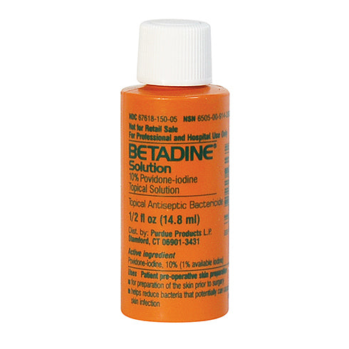 1/2 oz Betadine Solution, 10% povidone-iodine