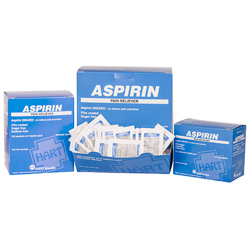 Aspirin Industrial Pack Pain Reliever, 325 mg tablets, Box Qty: 250 packs of 2
