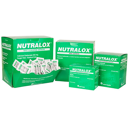 NUTRALOX mint antacid, chewable tablets, Box Qty: 50 packs of 2