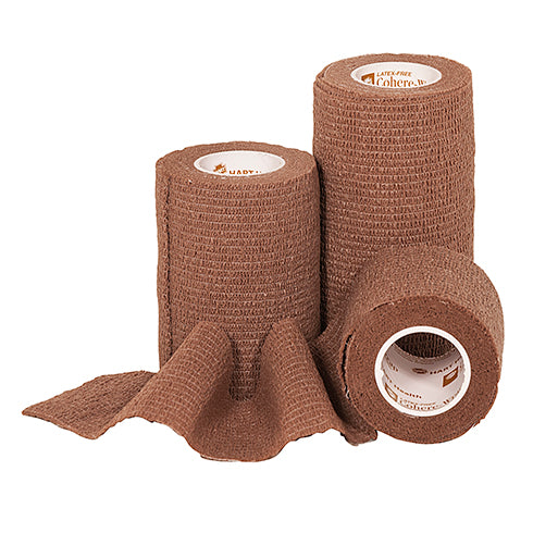 1 inch 5 Yd Roll of Latex Free Cohere Self-Adherent Wrap, two pack