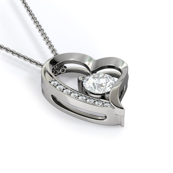 To My Wife Love Your Husband - Forever Love Necklace with Last Breath Message Card - Kid Angeles Jewelry