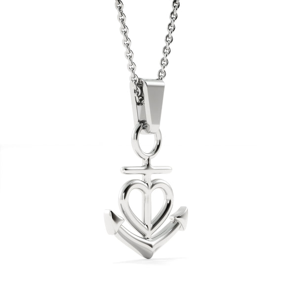 To My Daughter Love Your Dad - Friendship Anchor Necklace with Never Forget Message Card - Kid Angeles Jewelry
