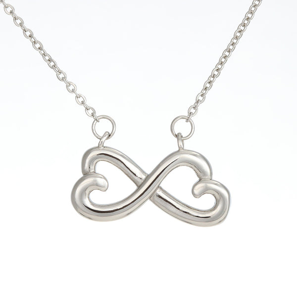 To My Wife Love Your Husband - Infinity Hearts Necklace with Heart to Heart Message Card - Kid Angeles Jewelry