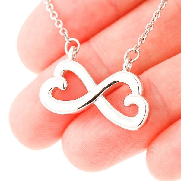 To My Wife Love Your Husband - Infinity Hearts Necklace with First Message Card - Kid Angeles Jewelry