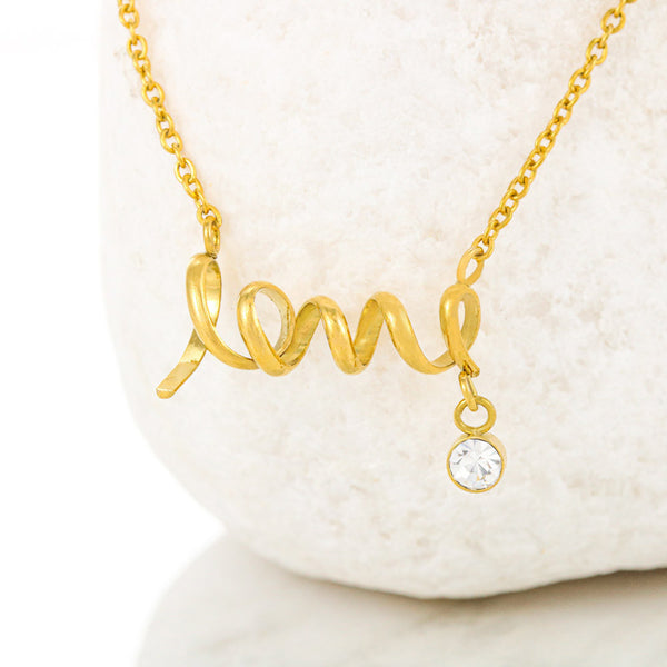 To My Mother Love Always Your Son - Scripted Love Necklace with Best Message Card - Kid Angeles Jewelry
