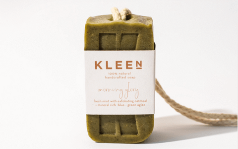 Kleensoaps soap on a rope zero waste plastic free