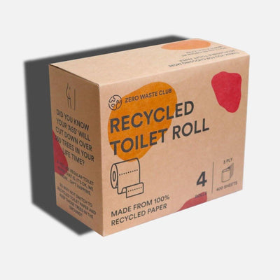 Zero Waste Club - 100% Recycled Toilet Roll - Pack of 4 | The Ideal Sunday